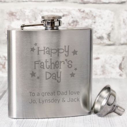 Happy Father's Day Hip Flask